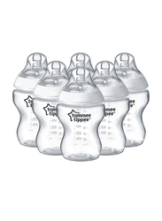 Tommee Tippee Closer to Nature Feeding Bottle Unisex, 260ml, 2-Pieces, Clear
