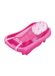 The First Year Sure Comfort Whale Sling Bath Tub for Newborn to Toddler, Pink