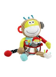 Dolce Musical Monkey Plush Interactive Stuffed Toy, Multicolour