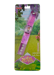 Disney Sofia Digital Watch for Girls, with Shinning Squama, 3+ Years, Plastic, One Size, Purple