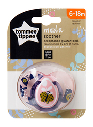 Tommee Tippee Closer to Nature Moda Soother for Girl, Butterfly, Purple