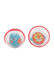 Playgro Bobbing Bath Balls for Kids, Clear/Red/Orange