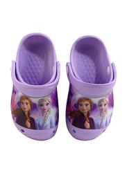 Disney Frozen II Crocs for Girls, 25 EU, Lilac