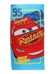 Disney Cars Beach Bath Towel for Boys, 70 x 140cm, Red/Blue