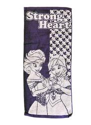 Disney Frozen Cotton Hand Towel for Girls, 34 x 80cm, Purple