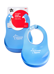 Tommee Tippee Essentials Comfi Neck Catch Bib for Boy, Blue