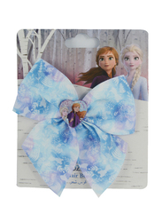 Disney Frozen II Big Bow Hair Clip for Girls with Charm, Blue