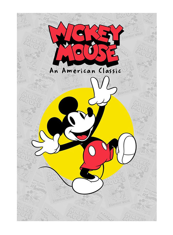 Disney Mickey Polar Fleece Blanket with Mug Gift Set, 2 Pieces, Multicolor