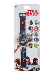 Lucas Star Wars Projector Watch for Boys, 3+ Years, One Size, Black