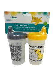 Disney BPA Free Baby Sippy Cup, 12 Months+, 300ml, 2 Pieces, Lion King, Black/Yellow