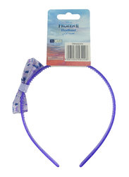 Disney Frozen II Headband for Girls, with Printed Bow Accent, Purple