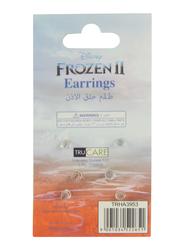 Disney Frozen II Ear Ring 3-Pairs Set for Girls, Gold/Blue