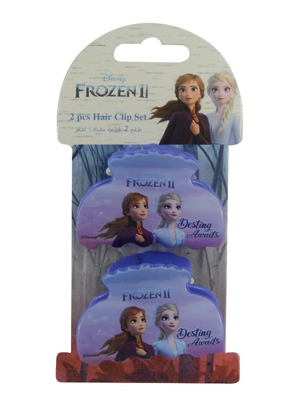 Disney Frozen II Hair Clips Set for Girls, 2-Pieces, Purple