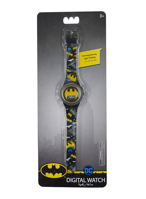 Warner Bros Batman Digital Watch for Boys, with Rotating Running Light Head, 3+ Years, Plastic, One Size, Multicolor