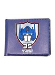 Hasbro Transformers Bi-Fold Wallet for Boys, Blue
