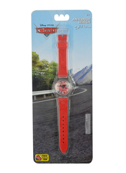 Disney Cars Analog Watch for Boys, 3+ Years, One Size, Red