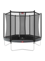 Berg Favorit 9 Feet Regular Trampoline with Safety Net Comfort, 270cm, Grey, Ages 5+