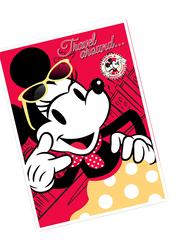 Disney Minnie Mouse Travel Around Kids Light Weight Flannel Blanket, 160 x 220cm, Red/Yellow