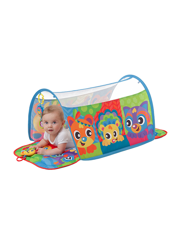 Playgro Honey Bee Bear Activity Tunnel Gym, Blue/Green/Yellow/Red/Purple