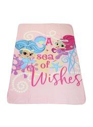 Nickelodeon Shimmer & Shine Polar Fleece Lightweight Warm Blanket, 100 x 150cm, Pink