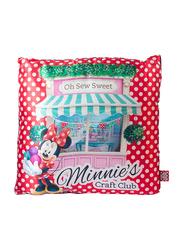 Disney Minnie Digitally Printed Kids Cushion, 40 x 40cm, White/Red