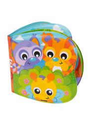 Playgro Little Bee's Adventure Bath Book for Kids, Blue/Yellow/Green/Red/Orange