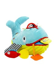 Dolce Play & Learn Whale Interactive Stuffed Animal Plush Toy, Multicolour