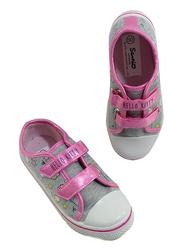 Sanrio Hello Kitty Themed Sneakers for Girls, 30 EU, Light Grey