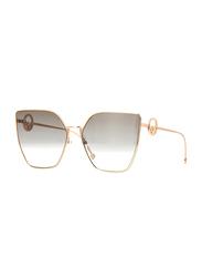 Fendi Full Rim Cat Eye Gold Copper Sunglasses for Women, Brown Gradient Lens, FN-0323/S-DDB6386, 63/18/143