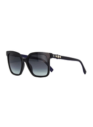 Fendi Full Rim Square Black Sunglasses for Women, Grey Gradient Lens, FN-0269/S-807549O, 54/20/145