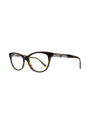 Bvlgari Full Rim Cat Eye Havana Frame for Women, BV4126B-504, 53/16/140