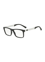 Emporio Armani Full Rim Rectangle Black Frame for Men, EM-3101-5042, 55/17/145