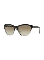 Vogue Full Rim Cat Eye Black/Grey Sunglasses for Women, Grey Lens, VO2993S-18808E, 57/18/140