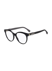 Fendi Full Rim Round Black Frame for Women, FN-0275-8075217, 52/17/145