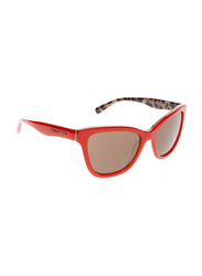 Dolce & Gabbana Full Rim Cat Eye Red Sunglasses for Girls, Brown Lens, DG4237-288573, 47/15/130