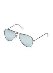 Ray-Ban Full Rim Aviator Matte Gunmetal Sunglasses for Boys, Grey Mirrored Lens, RJ9506S-250/30, 50/13/120
