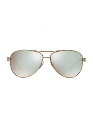 Tiffany&Co Full Rim Aviator Dark Brown Sunglasses for Women, White Mirrored Lens, TF-3049B-609164, 58/12/140