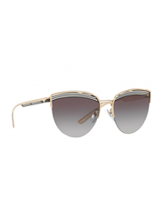 Bvlgari Full Rim Cat Eye Rose Gold Sunglasses for Women, Grey Gradient Lens, BV6118-20338G, 58/18/140