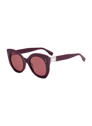 Fendi Full Rim Cat Eye Violet Sunglasses for Women, Violet Lens, FN-0265/S-0T7524S, 52/23/140