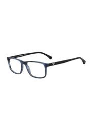 Emporio Armani Full Rim Square Blue Frame for Men, EM-3098-5549, 53/18/140