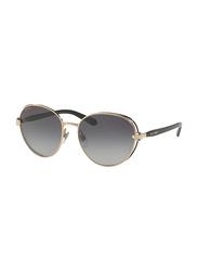 Bvlgari Full Rim Round Black/Gold Sunglasses for Women, Grey Gradient Lens, BV6087B-20238G, 57/17/140