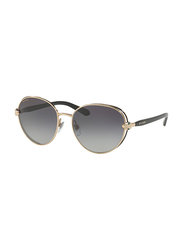 Bvlgari Full Rim Round Black/Gold Sunglasses for Women, Grey Gradient Lens, BV6087B-20238G, 57/17/140