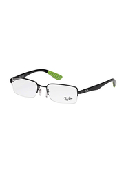 Ray-Ban Half-Rim Rectangle Black Frame Unisex, RX6367I-2885, 51/17/140