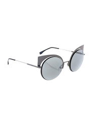 Fendi Full Rim Cat Eye Grey Sunglasses for Women, Grey Lens, FN-0177/S-KJ153T4, 53/22/135