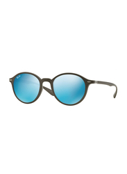 Ray-Ban Full Rim Round Black Sunglasses Unisex, Blue Lens, RB4237-620617, 50/21/145
