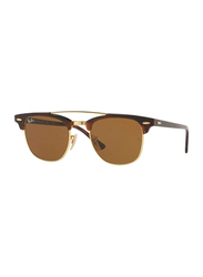 Ray-Ban Full Rim Square Tortoise Sunglasses Unisex, Brown Lens, RB3816-990/33, 51/21/145