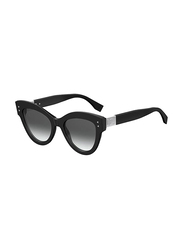 Fendi Full Rim Cat Eye Black Sunglasses for Women, Grey Gradient Lens, FN-0266/S-807529O, 52/20/140