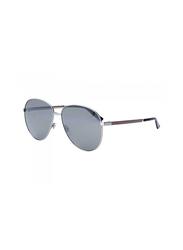 Gucci Full Rim Aviator Ruthenium Sunglasses Unisex, Grey Mirrored Lens, GU-0138/S-009, 61/14/145