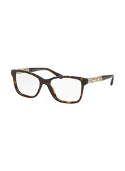 Bvlgari Full Rim Rectangle Havana Frame for Women, BV4125B-504, 52/17/140