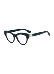 Fendi Full Rim Cat Eye Green Frame for Women, FN-0273-1ED4918, 49/18/140